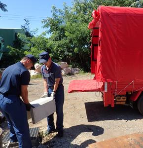 消防署へ防災資機材提供